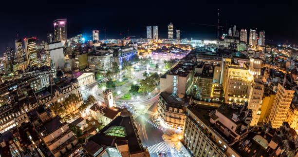 City of Buenos Aires at night stock photo
