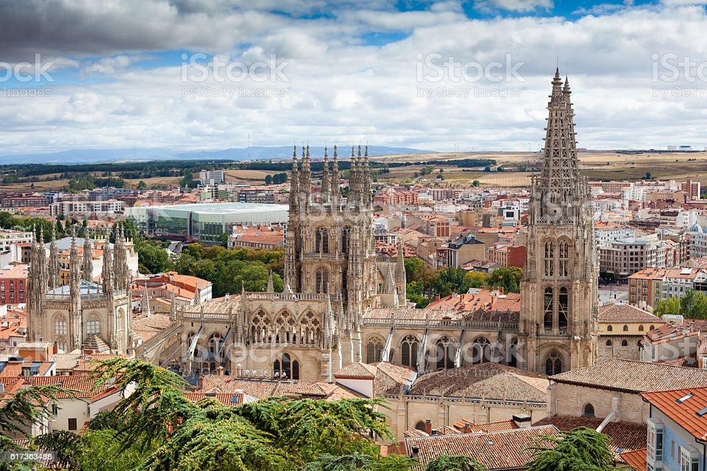 Stadt und die Kathedrale von Burgos – Foto