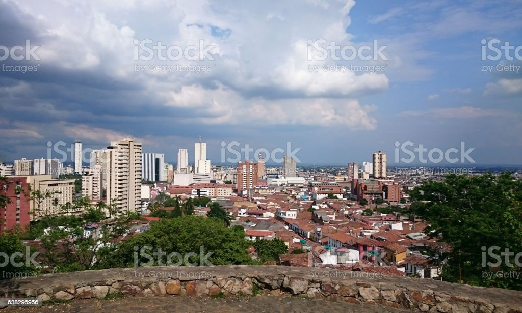 City of Cali in Colombia on a beautiful sunny day stock photo