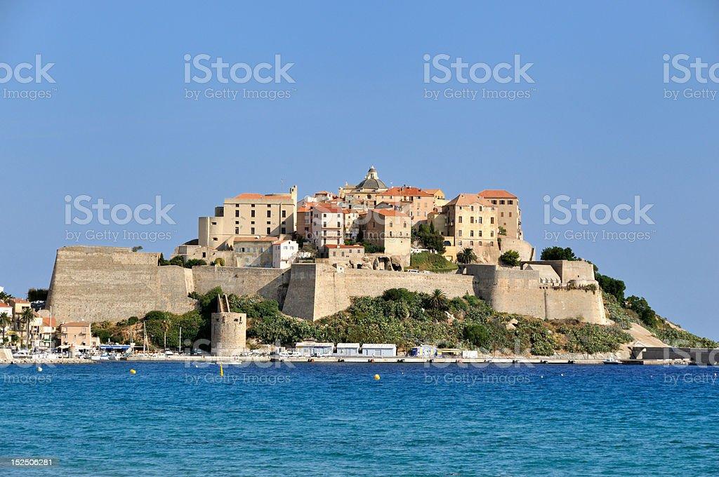 City of Calvi (Corsica) stock photo