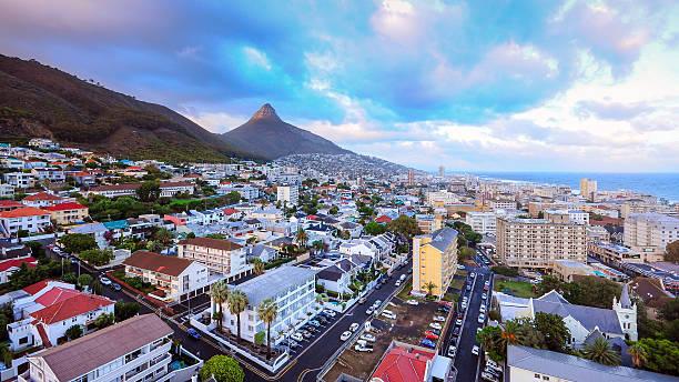 の街、南アフリカ、ケープタウン。 ストックフォト