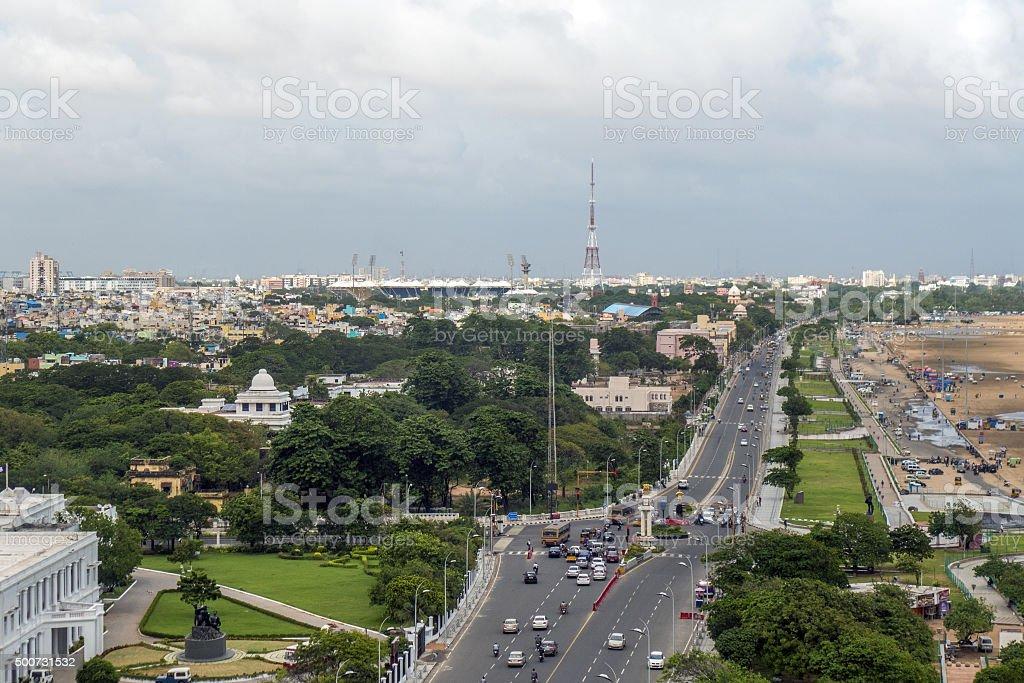 City of Chennai - Aerial View stock photo