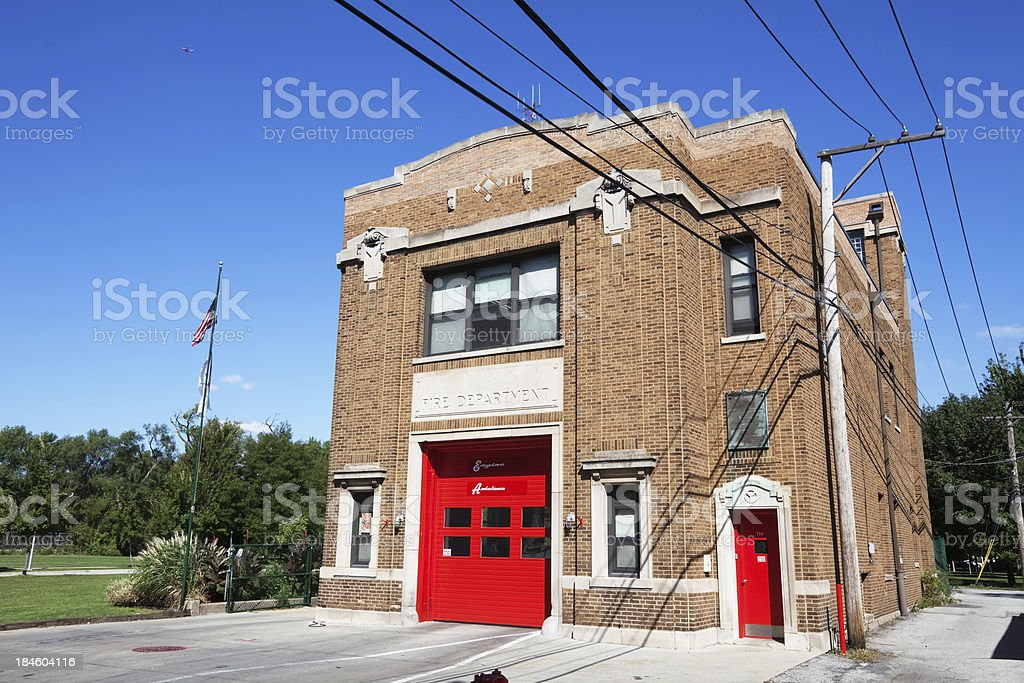 City of Chicago Fire Department Firehouse royalty-free stock photo