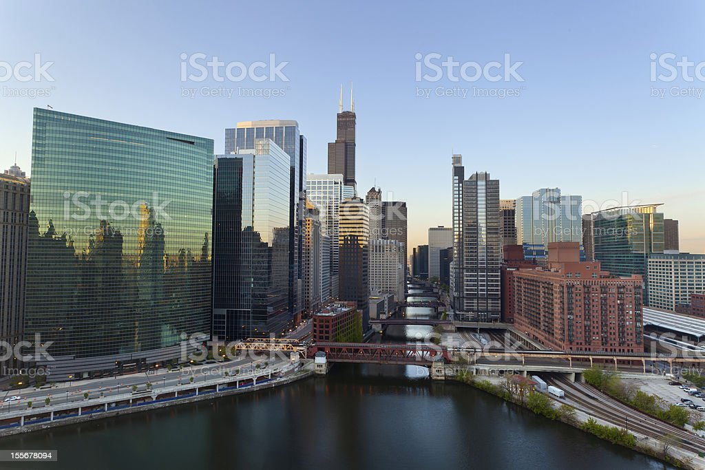City of Chicago. stock photo