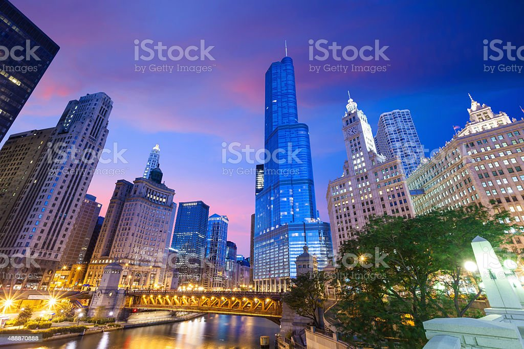 City of Chicago stock photo