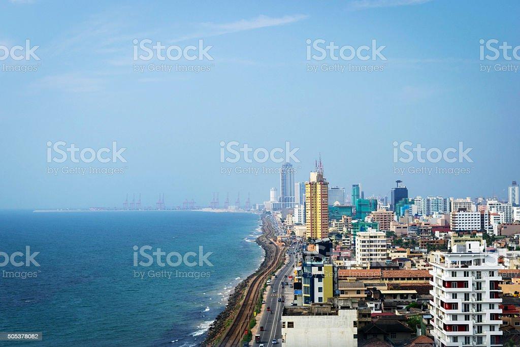 City of Colombo in Sri Lanka stock photo