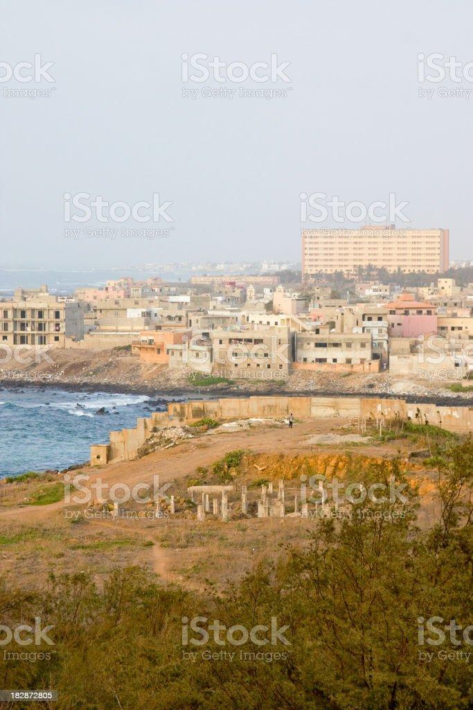 City of Dakar royalty-free stock photo