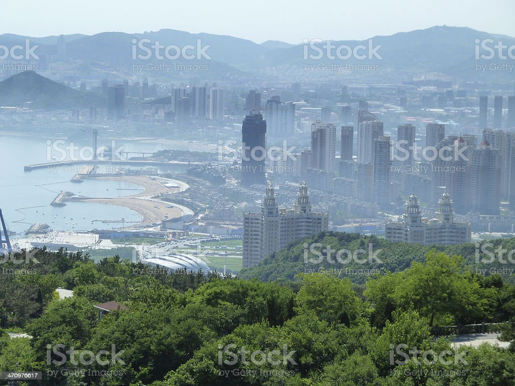 City of Dalian stock photo