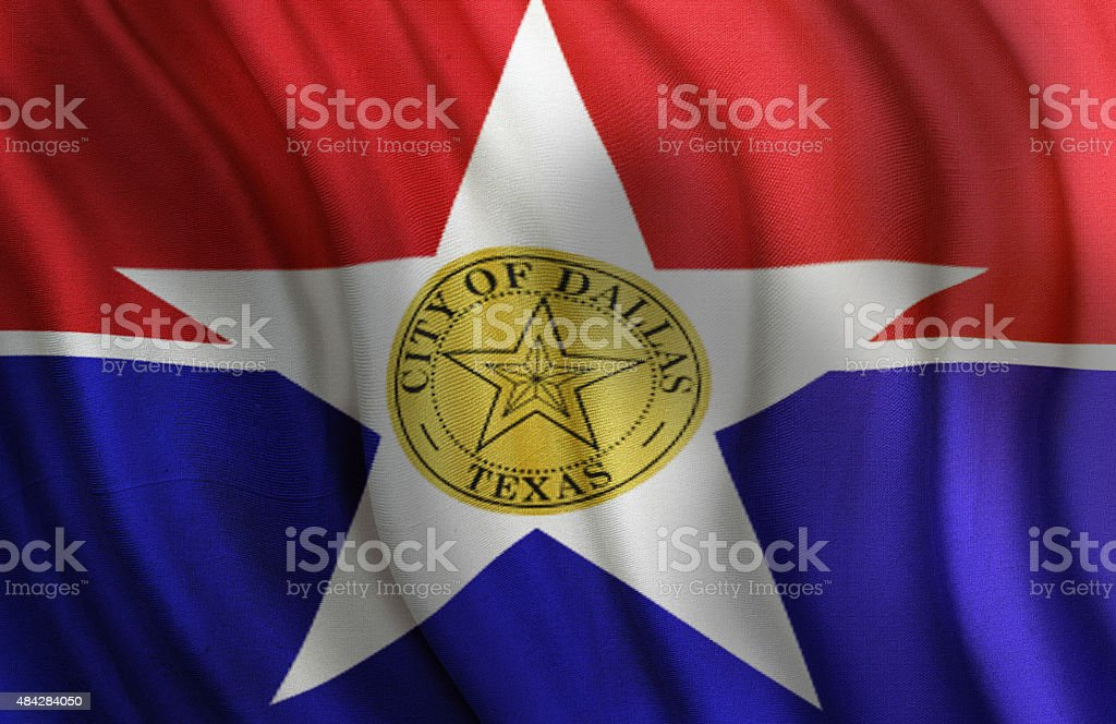City of Dallas State of Texas Flag stock photo