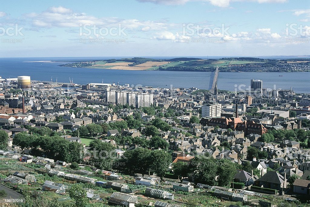City of Dundee stock photo