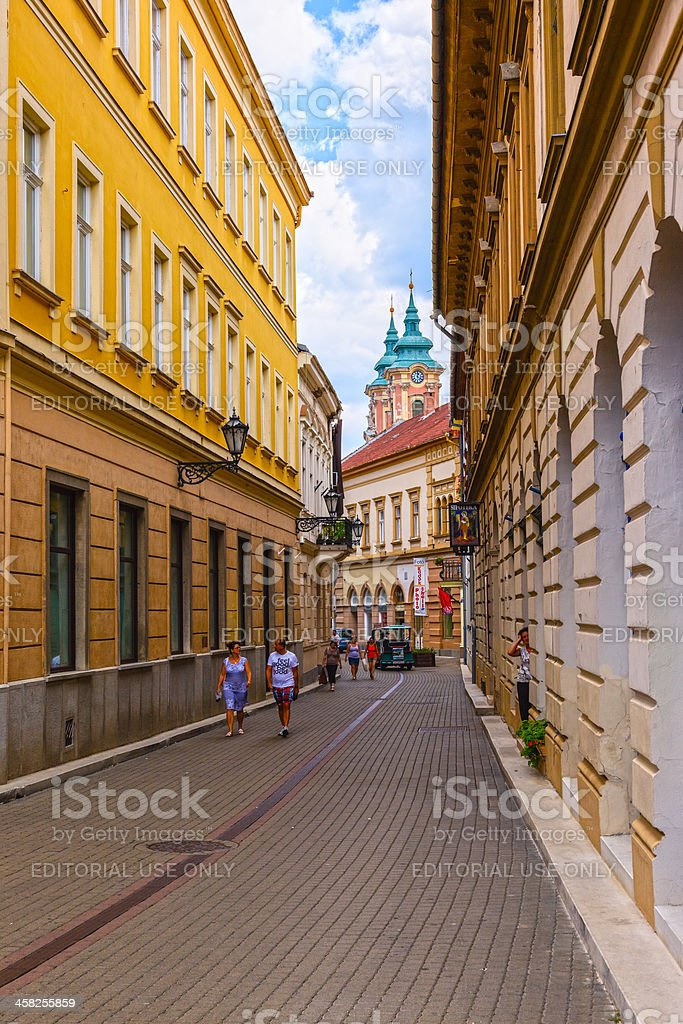 City of Eger royalty-free stock photo