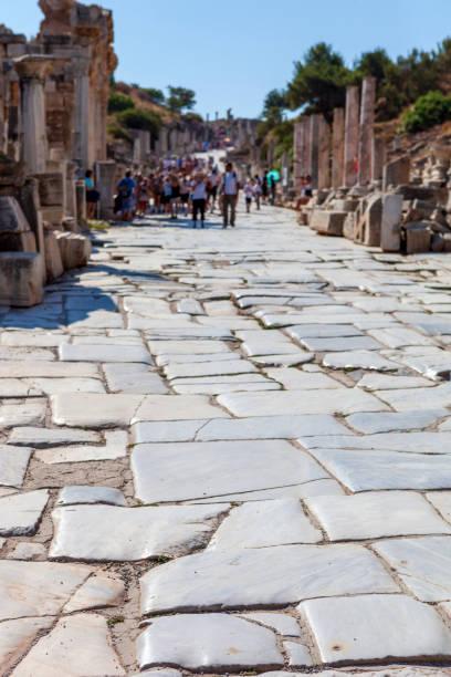 City of Ephesus, Kusadasi, Turkey Many tourists visit the City of Ephesus , Kusadasi Turkey celsus library stock pictures, royalty-free photos & images