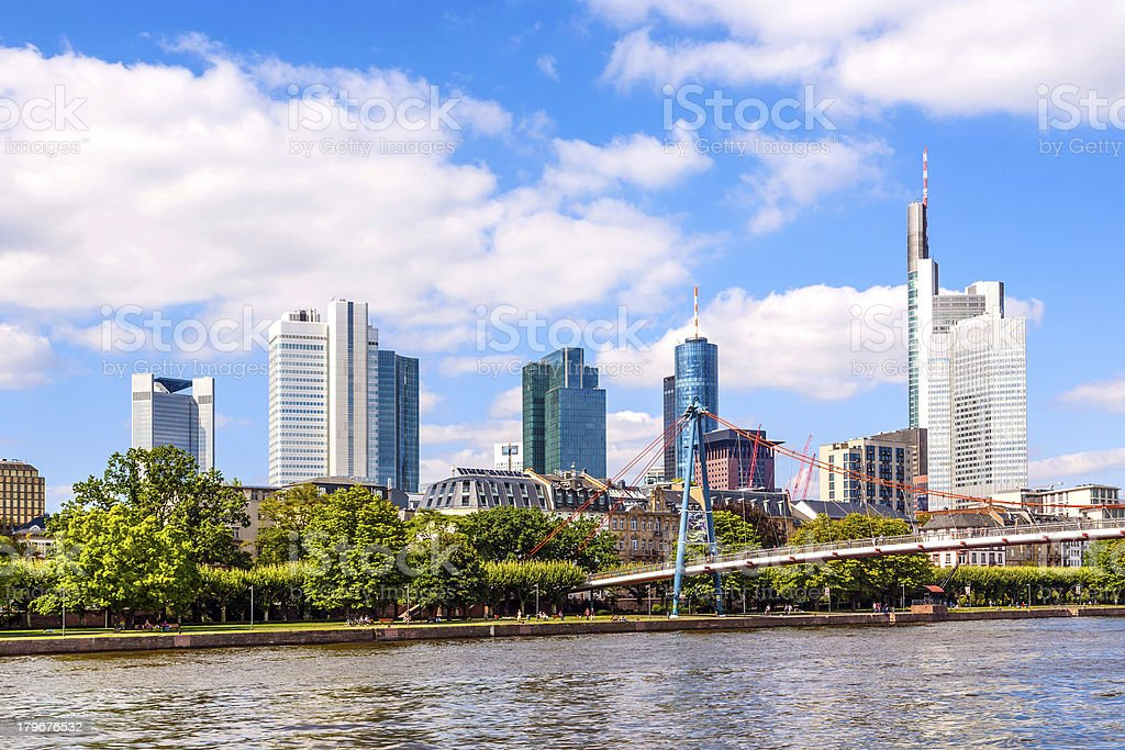 City of Frankfurt, Germany royalty-free stock photo