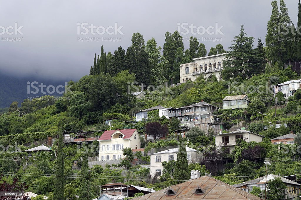 city €‹of Gagra summer urban landscape royalty-free stock photo