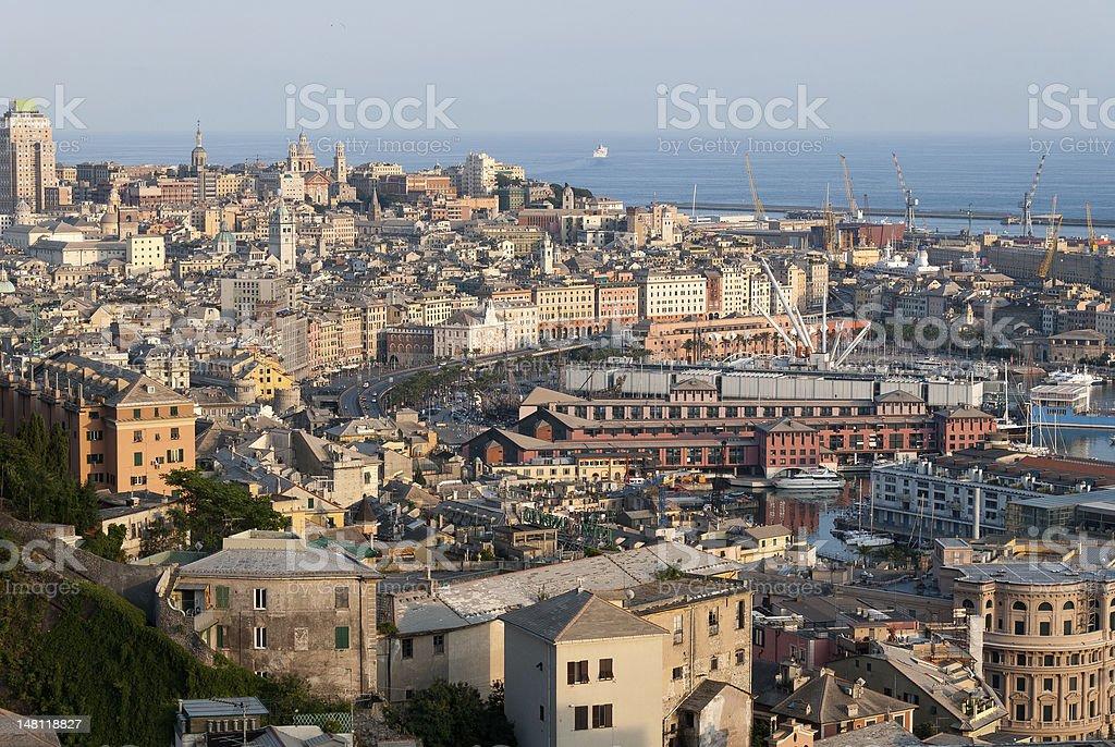 city of Genoa stock photo