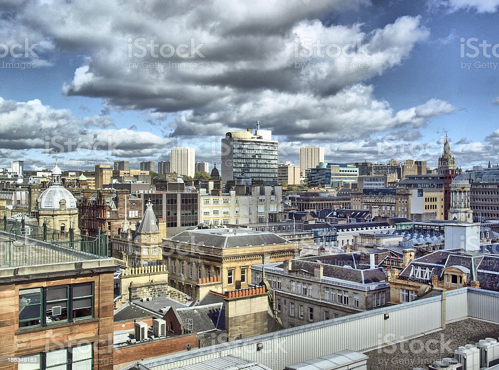 City of Glasgow - HDR stock photo