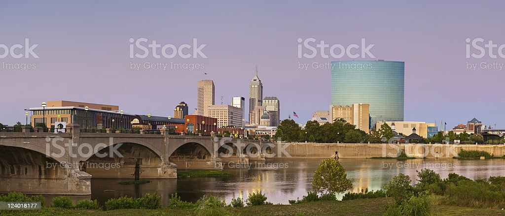 City of Indianapolis. stock photo