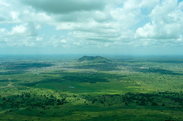 city of juba in southern sudan - sudan stock photos and pictures