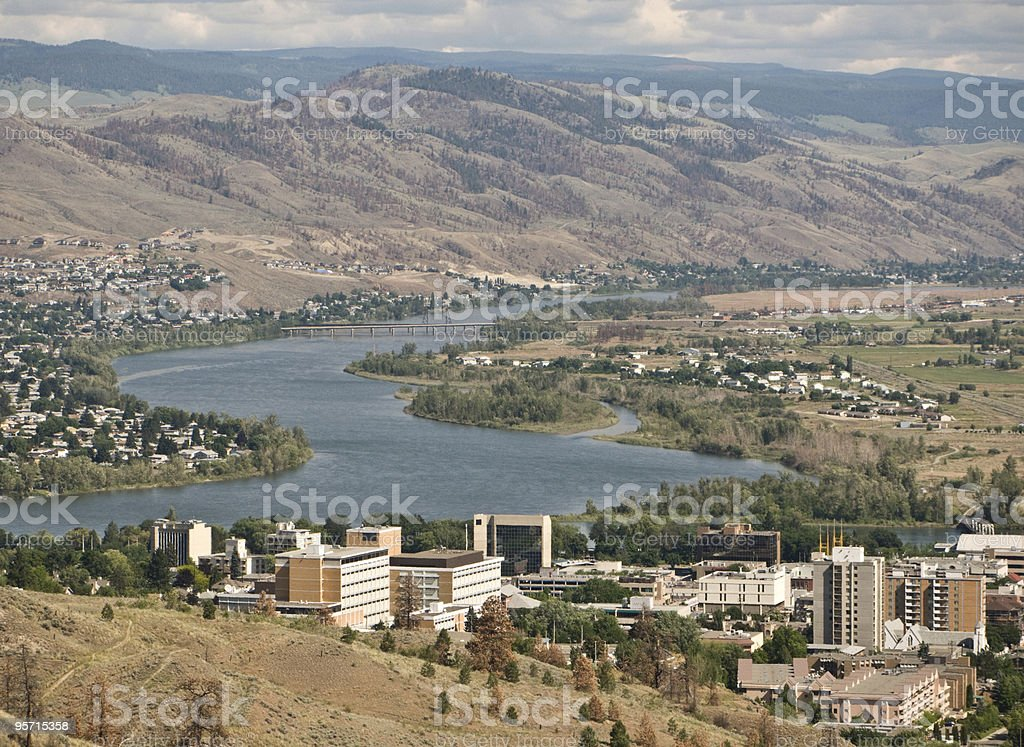 City of Kamloops, North Thompson River stock photo