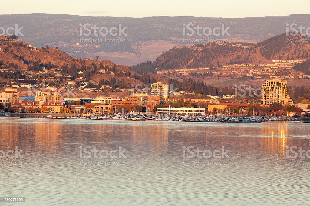 City of Kelowna Okanagan Lake, British Columbia canada stock photo