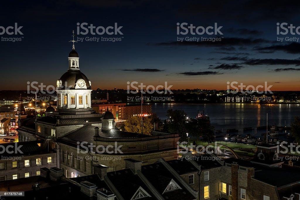 City of Kingston Ontario, Canada at Sunrise stock photo