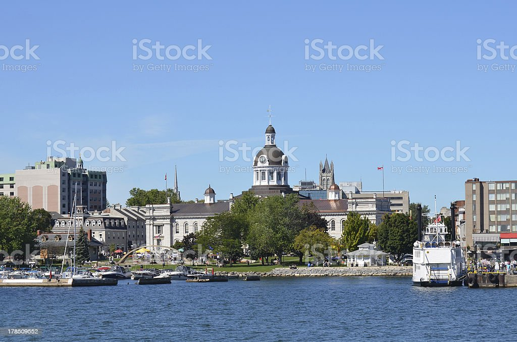 City Of Kingston Ontario Canada from the Water stock photo