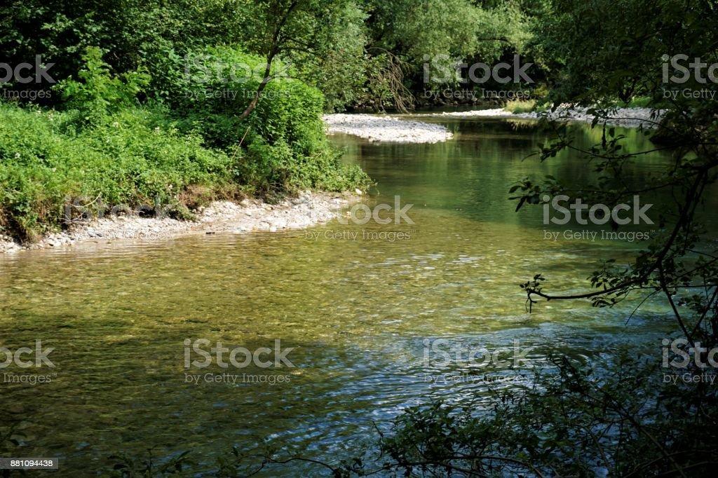 City of Kranj Sava river Upper Carnolia stock photo