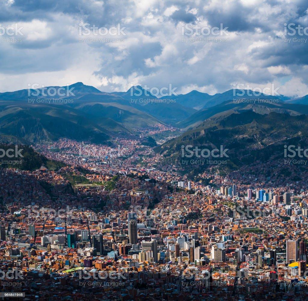 City of La Paz royalty-free stock photo