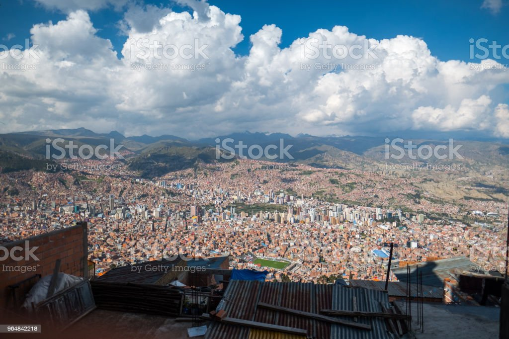 City of La Paz royalty-free stock photo