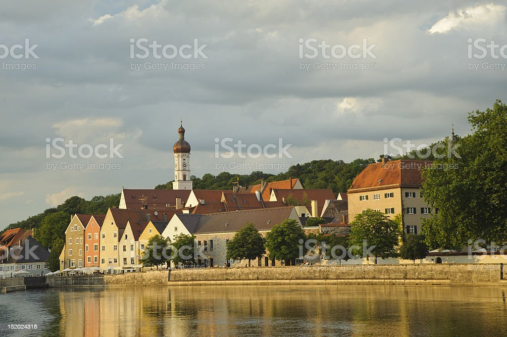 City of Landsberg at river lech (Bavaria, Germany) royalty-free stock photo