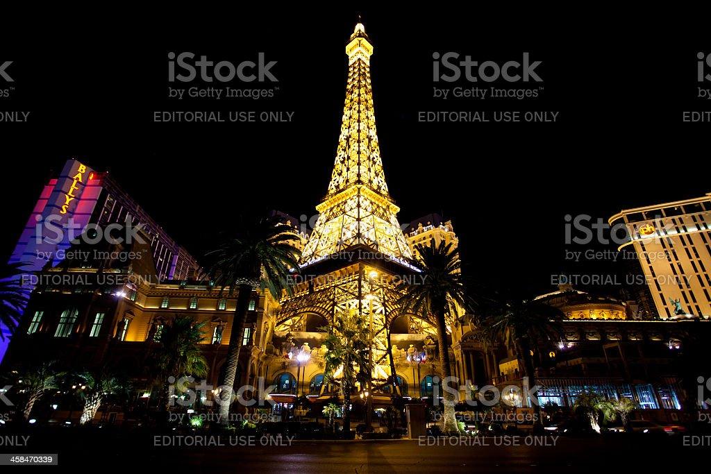 City of Las Vegas at Night, Nevada, Usa royalty-free stock photo