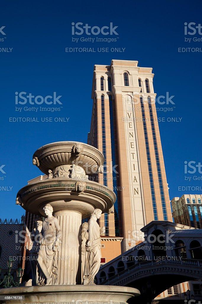 City of Las Vegas, The Venetian Resort Hotel Casino royalty-free stock photo