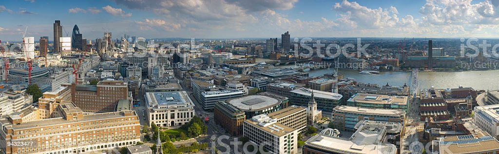 City of London and the River Thames royalty-free stock photo