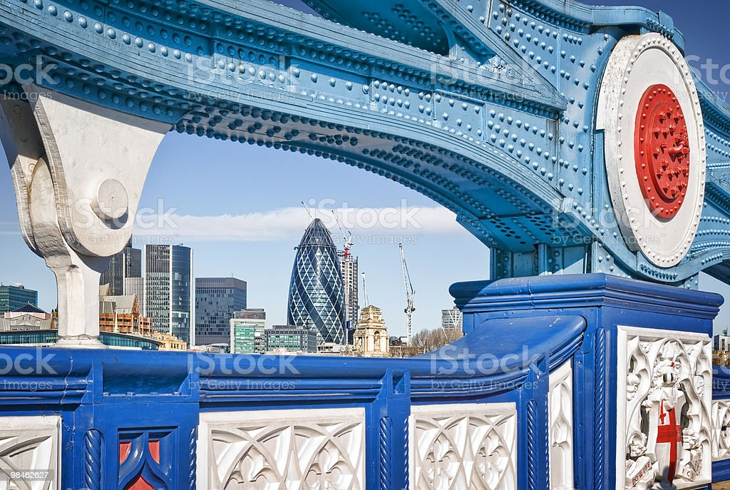 City di Londra e Tower Bridge. foto stock royalty-free