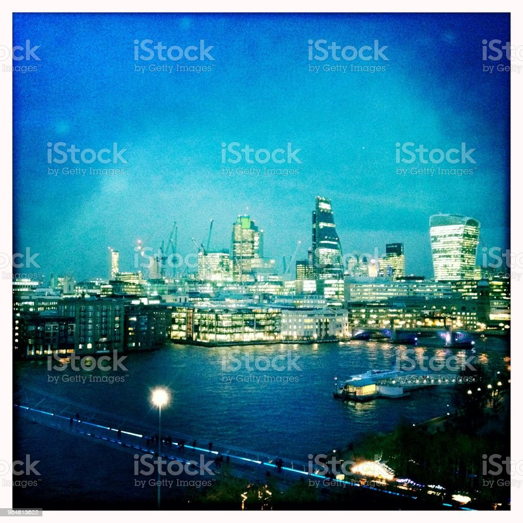 City of London at dusk, England royalty-free stock photo