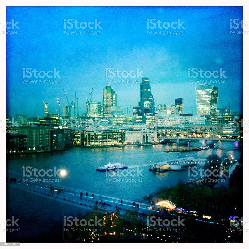 City of London at dusk, England royalty-free stock photo