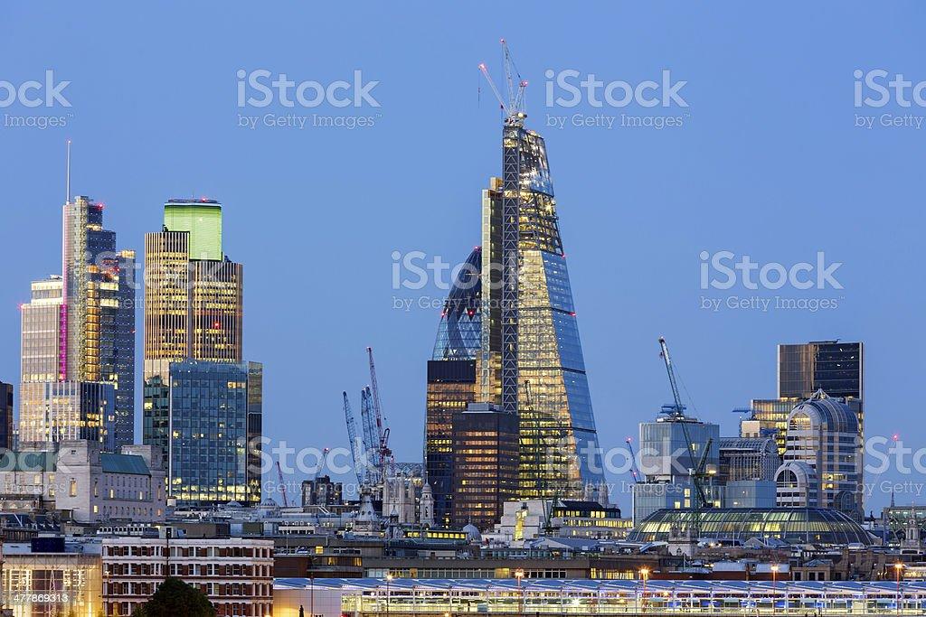 City of London at dusk royalty-free stock photo