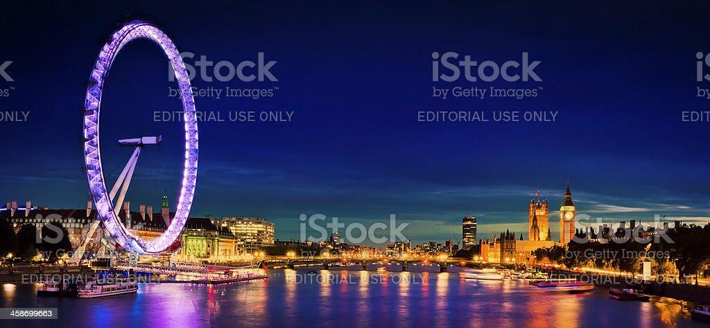 City of London at twilight royalty-free stock photo