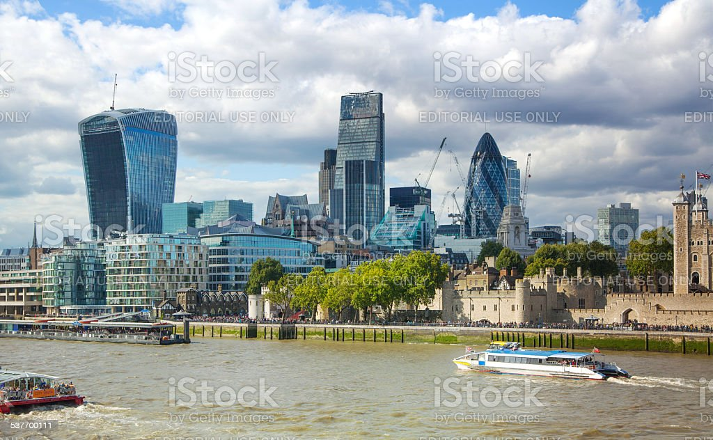 City  of London business and banking district. London stock photo
