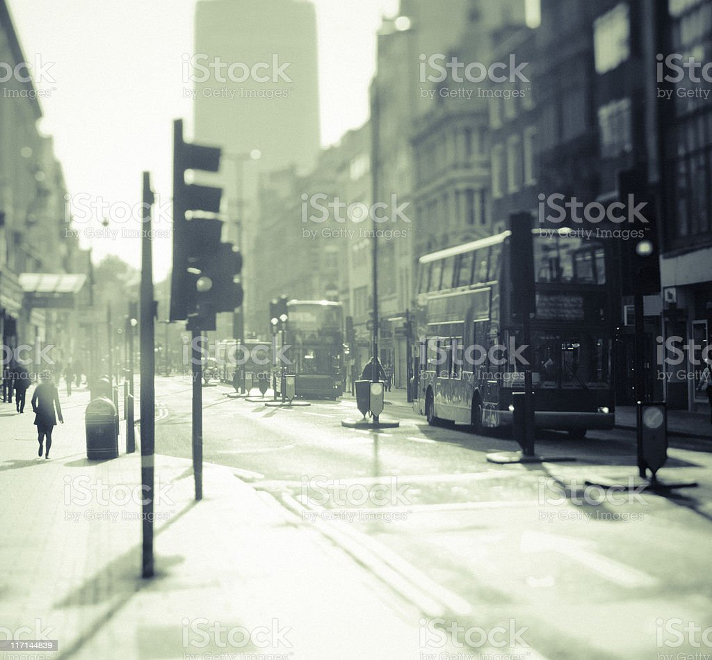 City of London, Early Morning in Oxford Street royalty-free stock photo