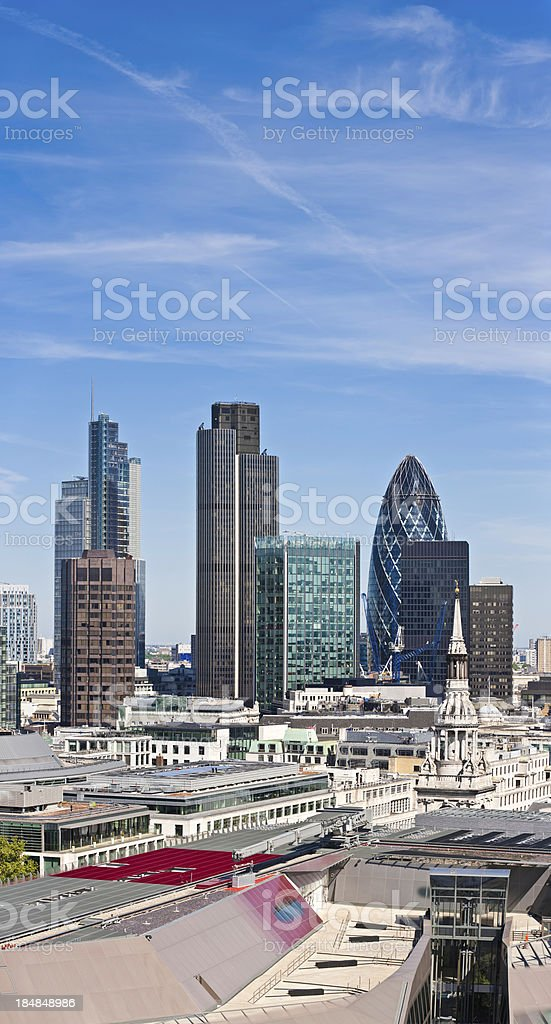 City of London financial district skyscrapers UK royalty-free stock photo