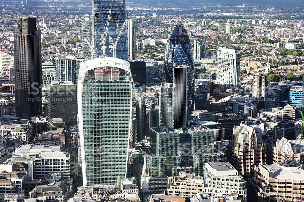 City of London From Above, UK royalty-free stock photo