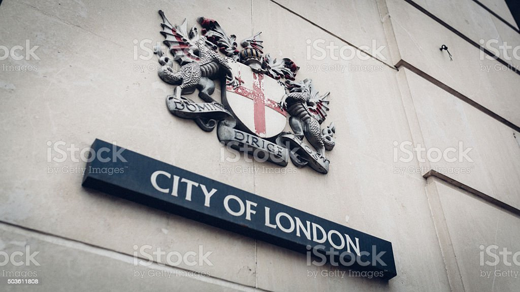 City of London Latin Emblem stock photo