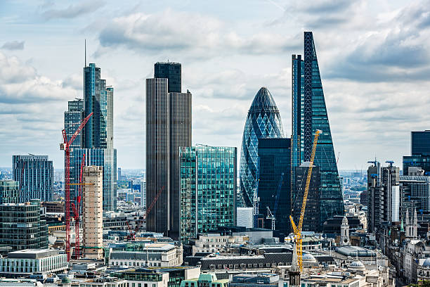 city of london, london, uk - finanskvarter bildbanksfoton och bilder