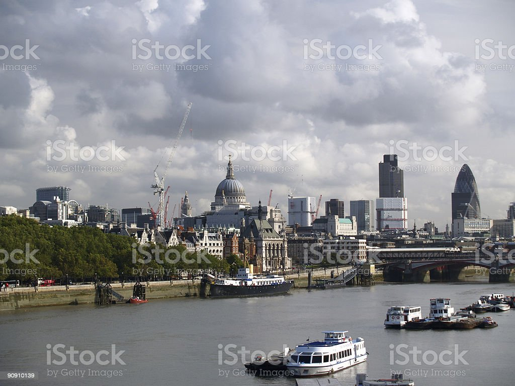 City of London royalty-free stock photo