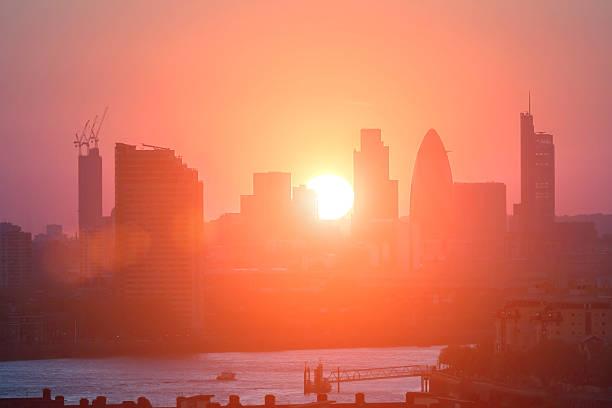 City of London silhouette stock photo