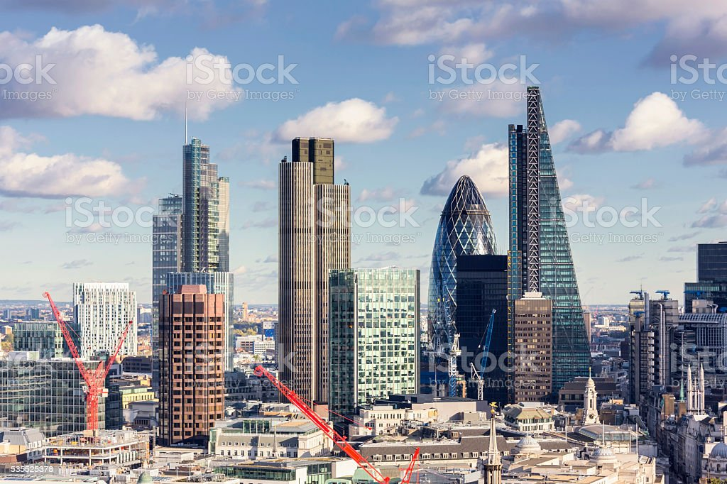 City of London skyline stock photo