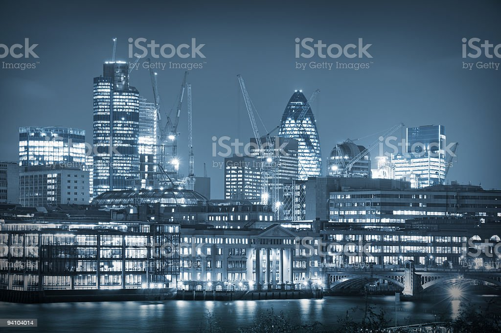 City of London Skyline royalty-free stock photo