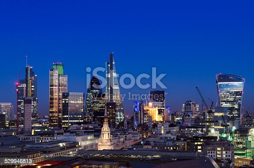 istock City of London skyscrapers at night 529946813