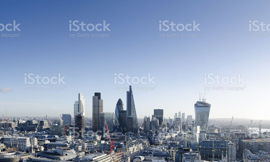 City of London skyscrapers stock photo